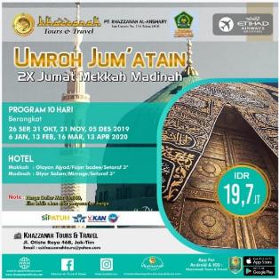 Paket Umroh 10 Hari 2 Kali Jumatan 6 Januari Khazzanah Tour & Travel
