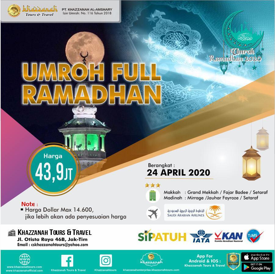 Paket Umroh Full Ramadhan 24 April Khazzanah Tour & Travel