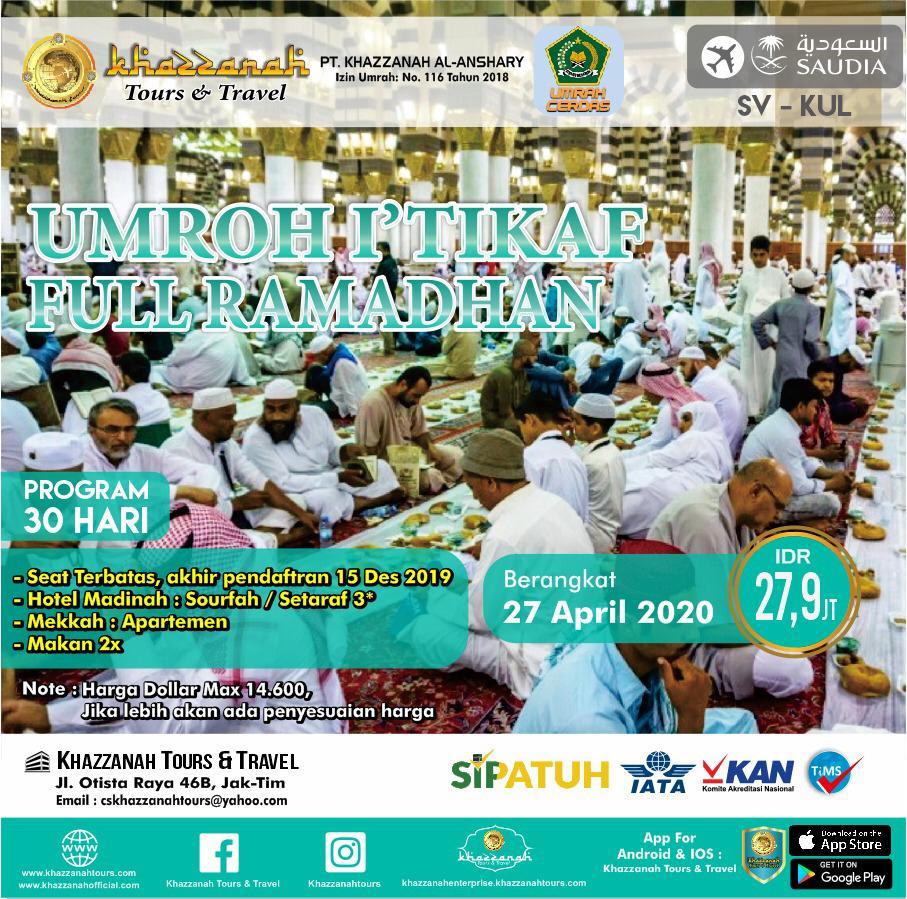 Paket Umroh Full Ramadhan 27 April Khazzanah Tour & Travel