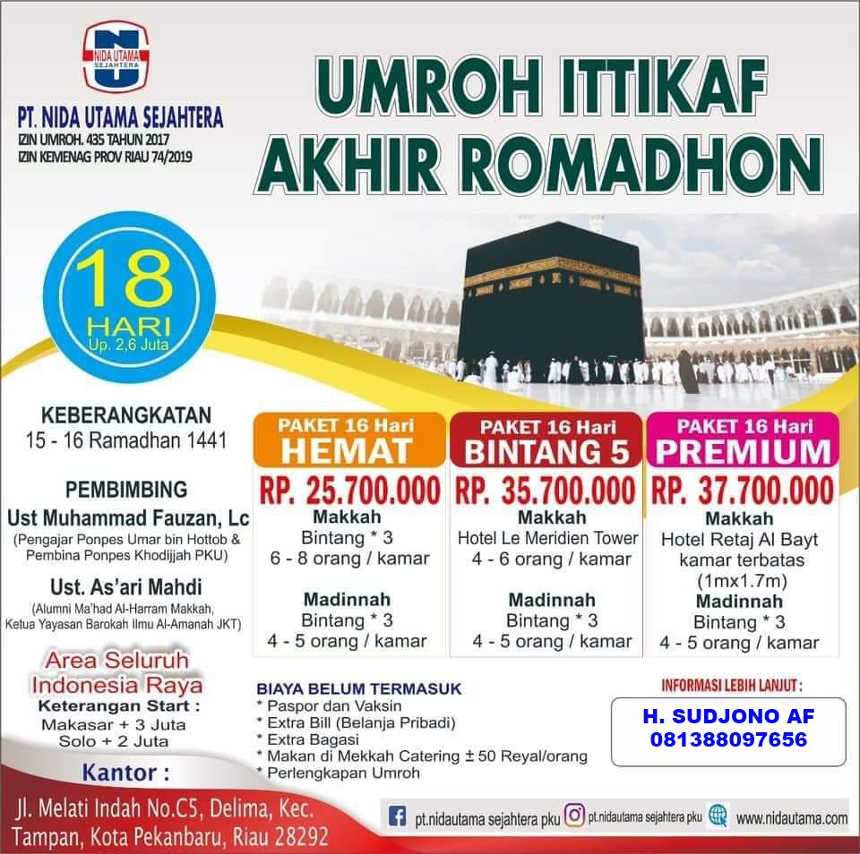 Paket Umroh Ittikaf Akhir Ramadhan