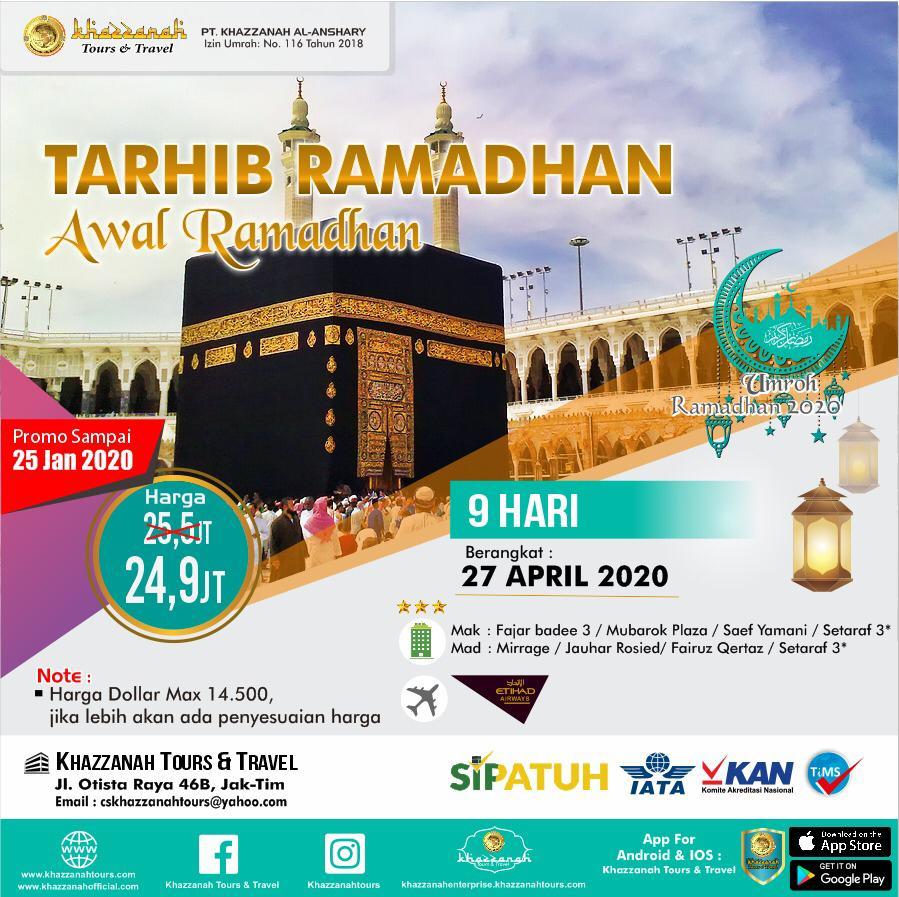 Umroh Awal Ramadhan 9 Hari 27 April