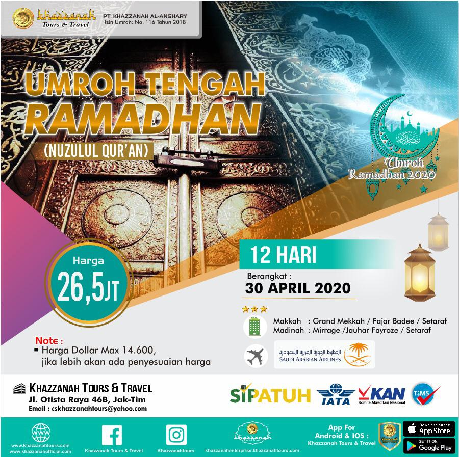 Umroh Ramadhan 12 Hari 30 April