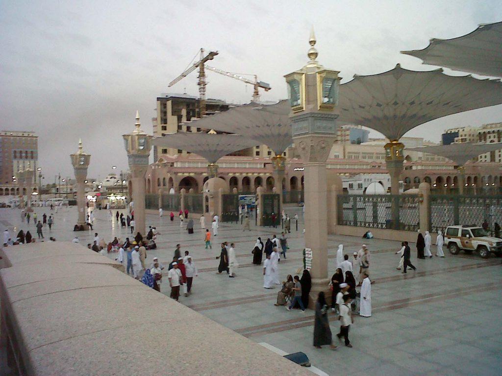 Kota Madinah dengan Masjid Nabawi Ramai saat Ibadah Haji