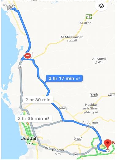 Peta Jeddah Makkah