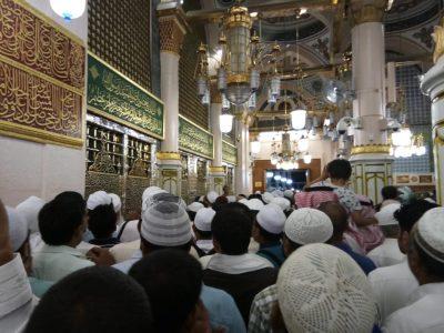 Makam Nabi Muhammad SAW sejajar dengan Raudah