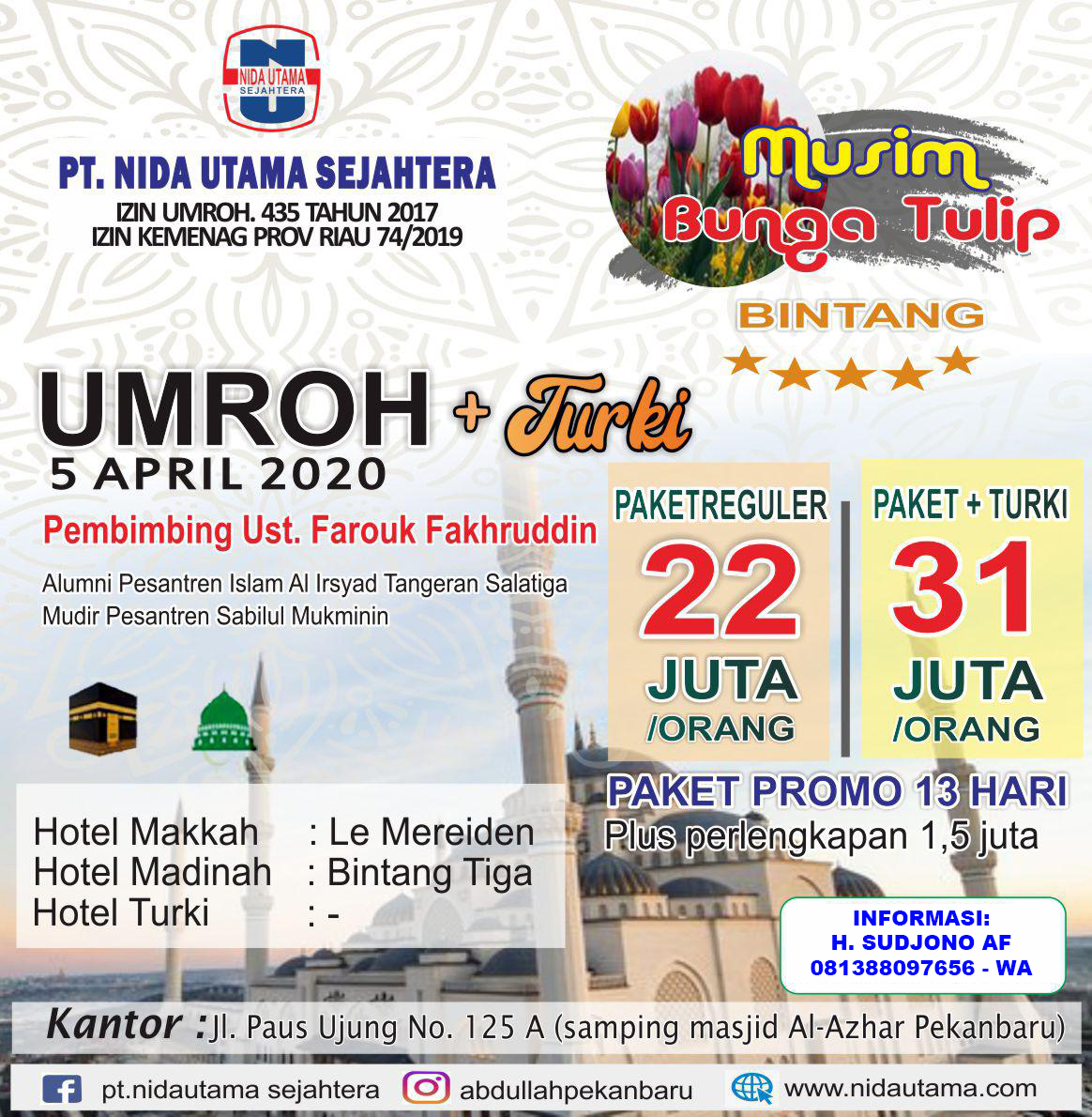 Paket Umroh April Plus Turki
