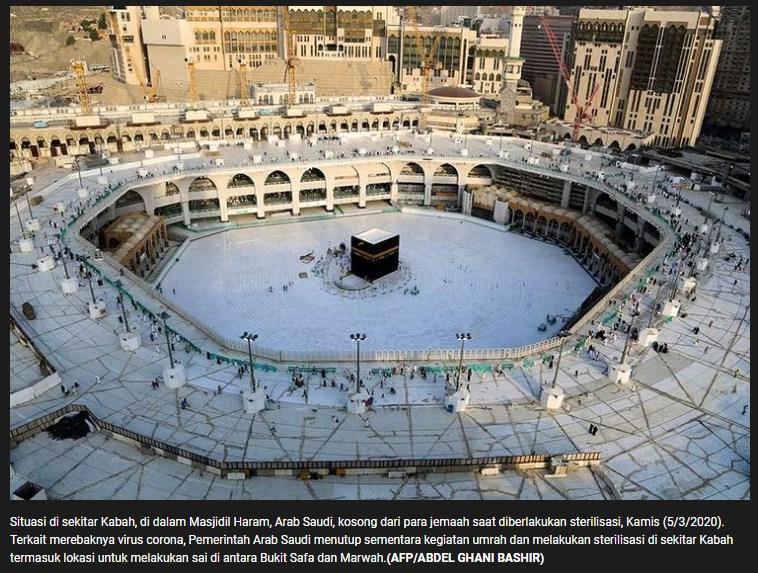 Suasana Masjidil Haram Menjelang Ibadah Haji 2020