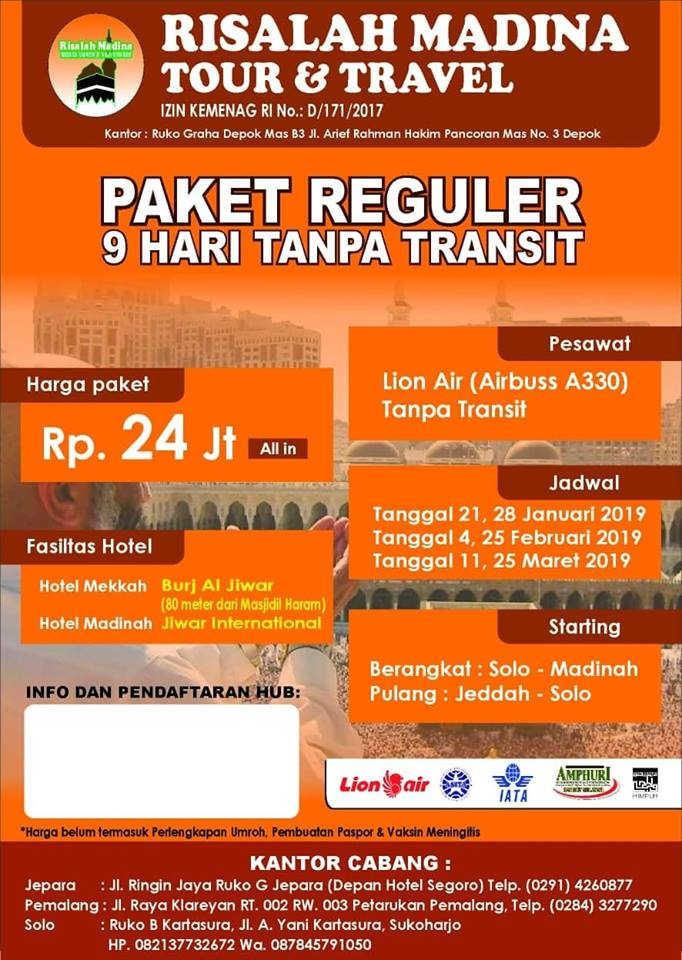 Program Paket Umroh Murah Kota Jepara