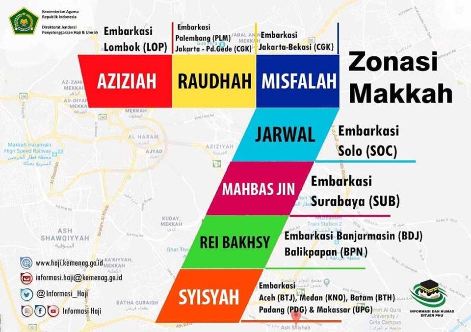 Lokasi pemondokan Jamaah Haji 2019