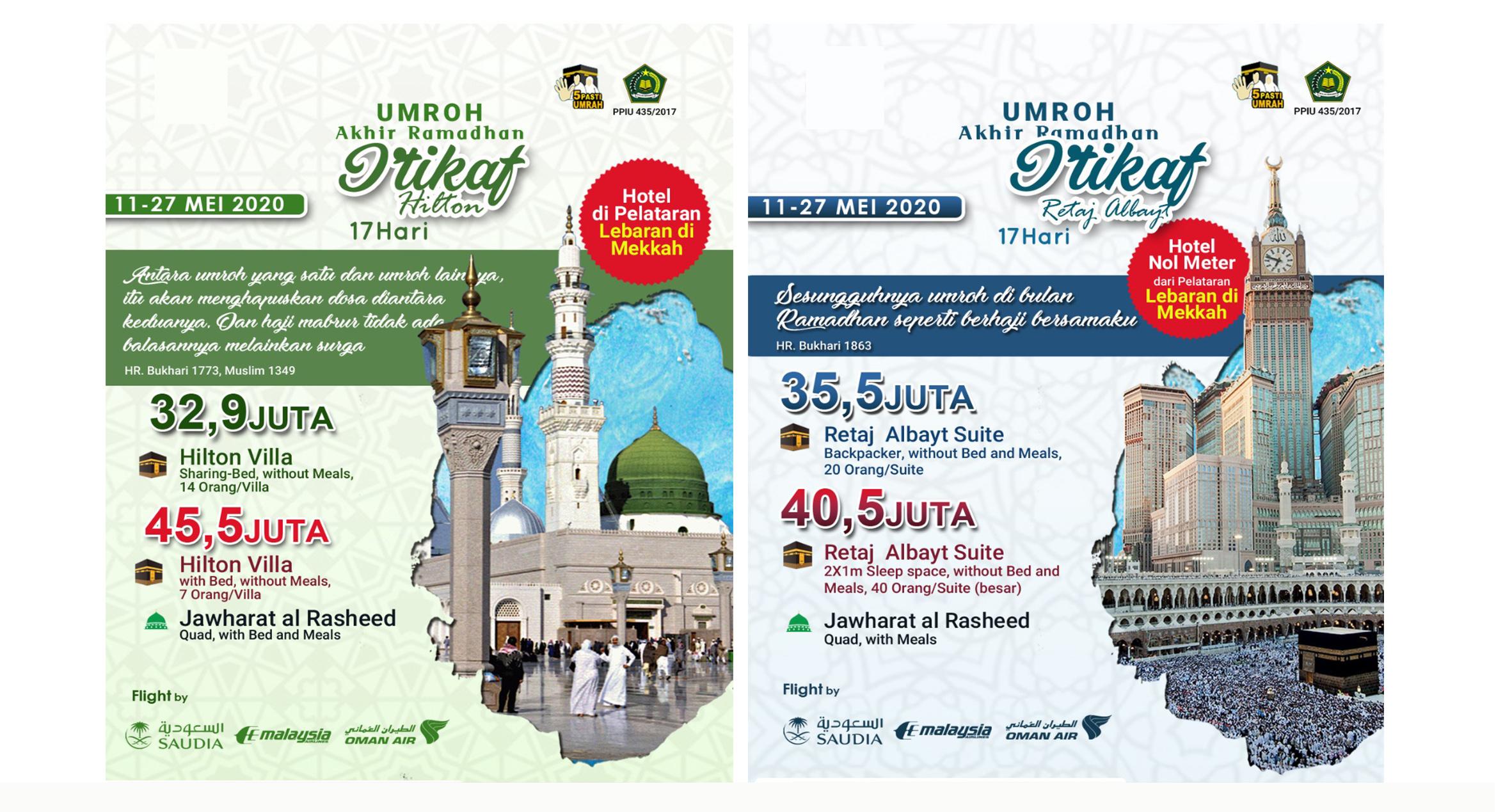 Paket Jadwal Umroh Ramadhan Backpacker 2020