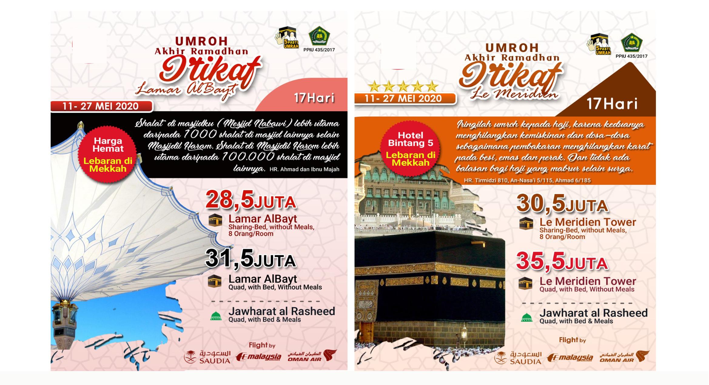 Paket Umroh Ramadhan Backpacker 2020